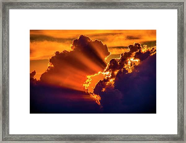 Sweet Nebraska Crepuscular Rays 010 Framed Print