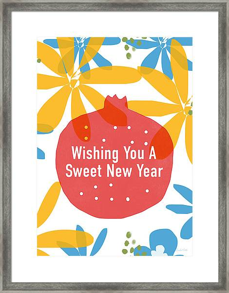 Sweet New Year Card- Art By Linda Woods Framed Print