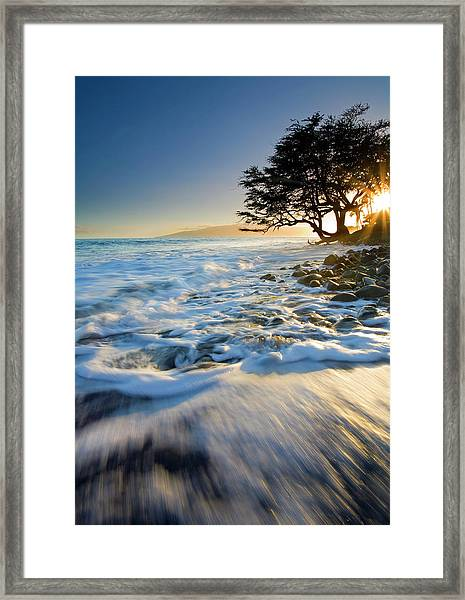 Swept Out To Sea Framed Print