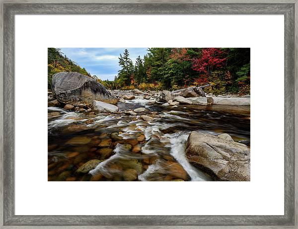 Swift River Autumn Nh Framed Print