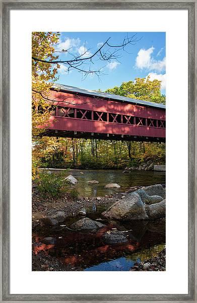 Swift River Covered Bridge Framed Print