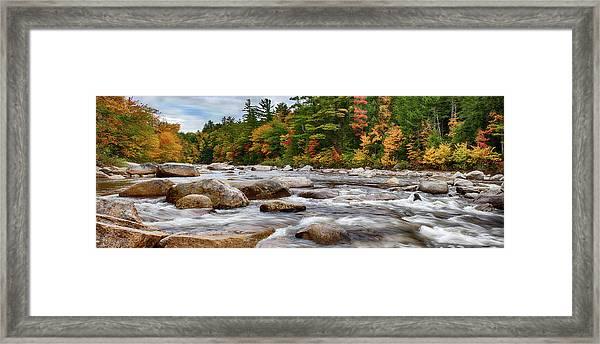 Swift River Runs Through Fall Colors Framed Print