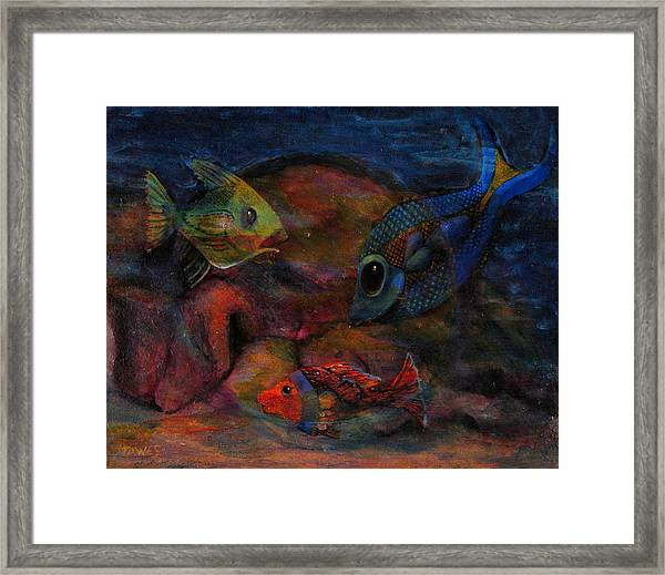Swimming At The Rusty Heart Framed Print