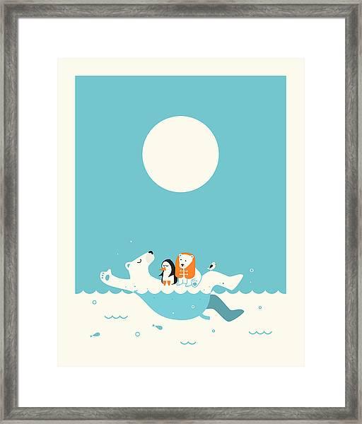 Swimming Lessons 1 Framed Print