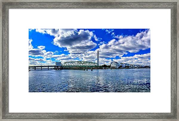 Framed Print featuring the photograph Swing Bridge Heaven by DJA Images