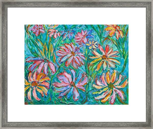 Swirling Color Framed Print