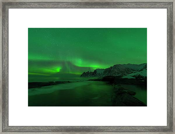 Swirling Skies And Seas Framed Print