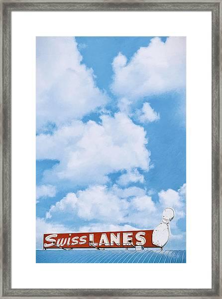 Swiss Lanes Framed Print