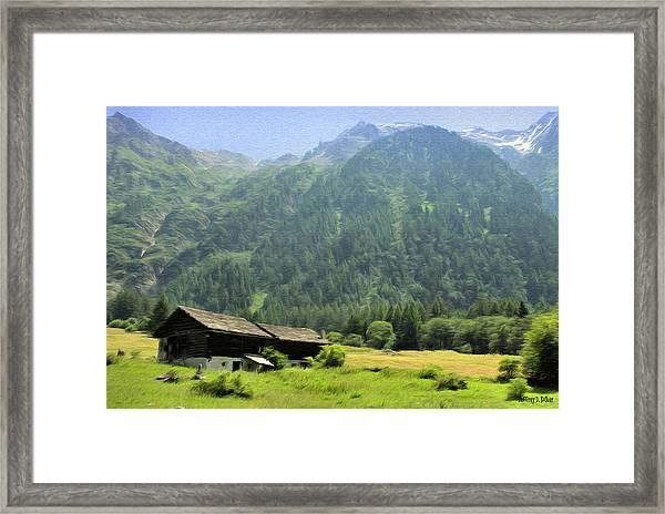 Swiss Mountain Home Framed Print