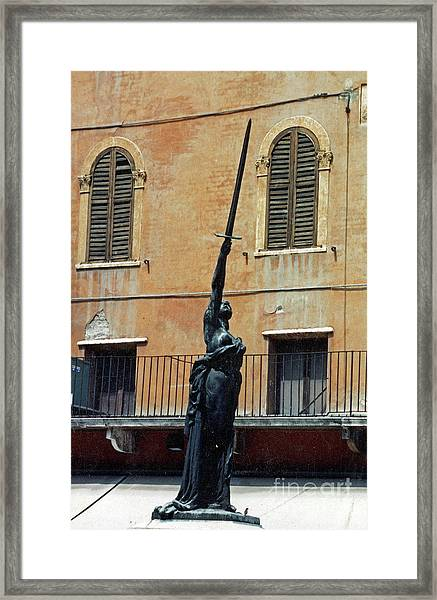Sword Of Freedom Framed Print