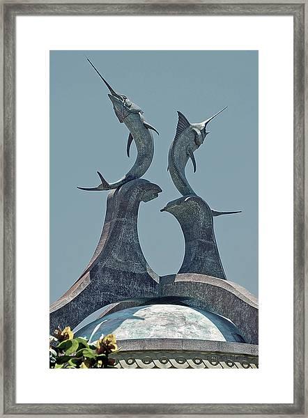 Swordfish Sculpture Framed Print