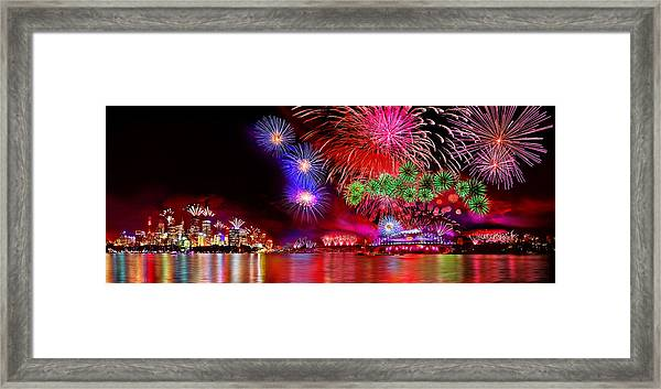 Sydney Celebrates Framed Print