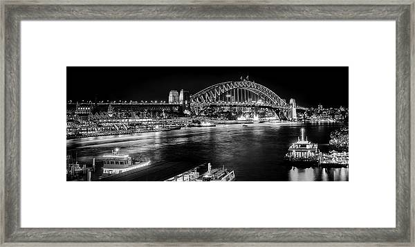 Framed Print featuring the photograph Sydney - Circular Quay by Chris Cousins