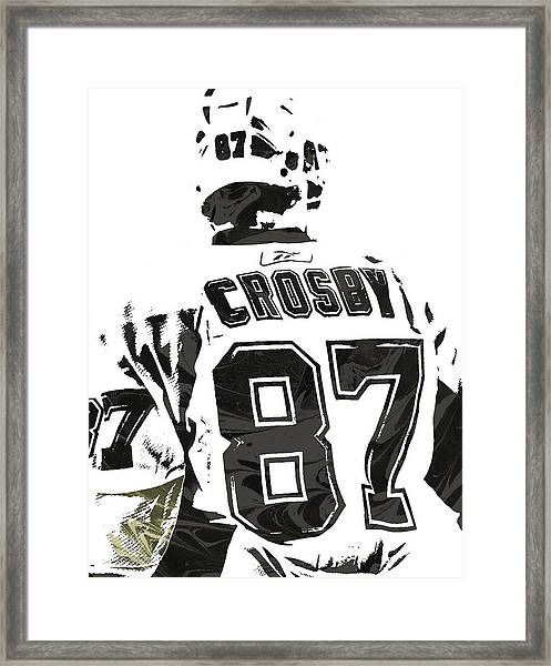 Sydney Crosby Pittsburgh Penguins Pixel Art 2 Framed Print