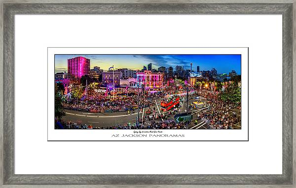 Sydney Gay And Lesbian Mardi Gras Parade Poster Print Framed Print