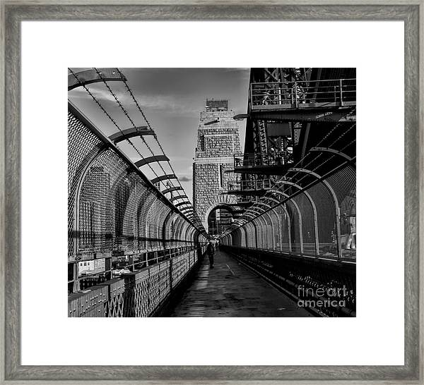 Sydney Harbor Bridge Bw Framed Print