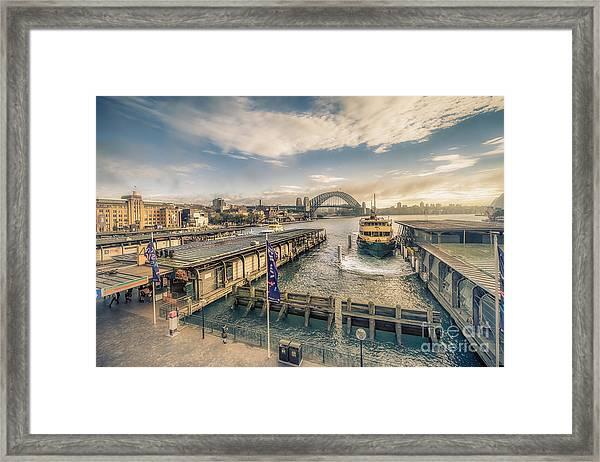Sydney Harbor I Framed Print