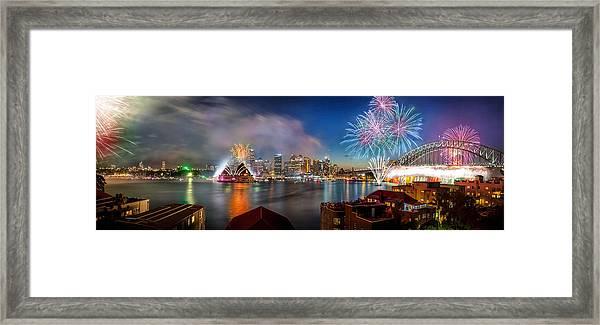 Sydney Sparkles Framed Print
