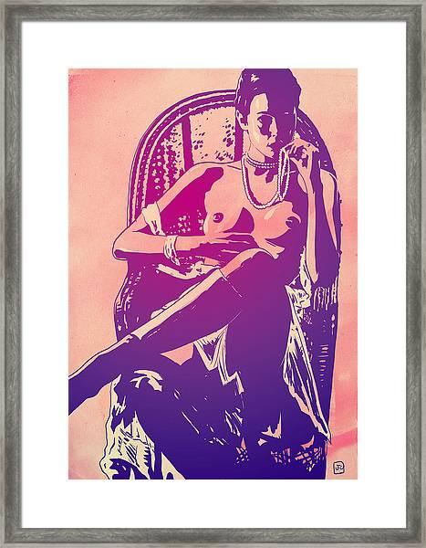 Sylvia Kristel Emmanuelle Framed Print
