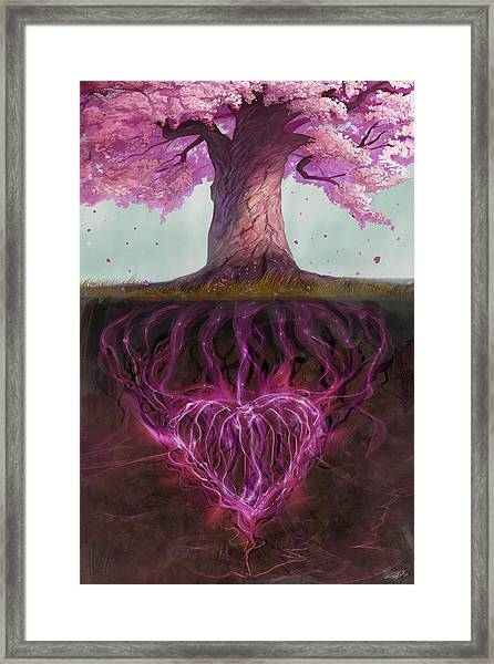 Symbolism Of Marriage Framed Print