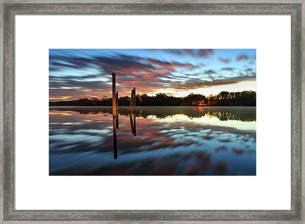 Symetry On The River Framed Print
