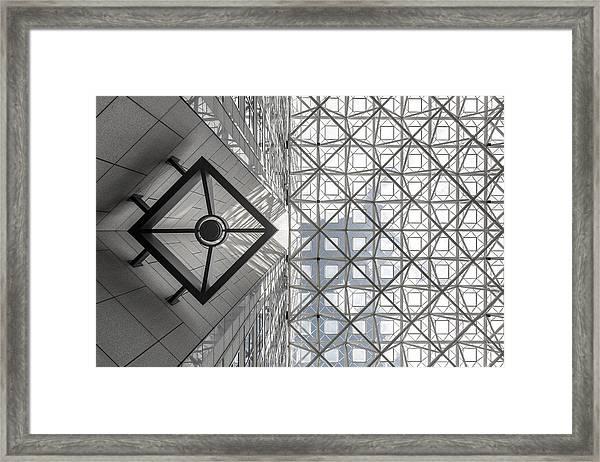 Symmetric Sky Framed Print