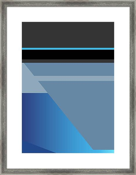 Symphony In Blue - Movement 1 - 1 Framed Print