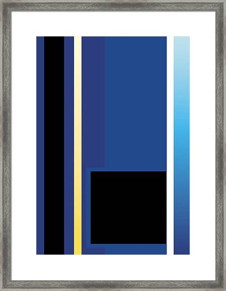 Symphony In Blue - Movement 2 - 3 Framed Print
