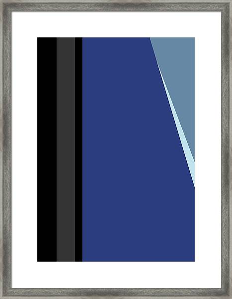 Symphony In Blue - Movement 3 - 1 Framed Print
