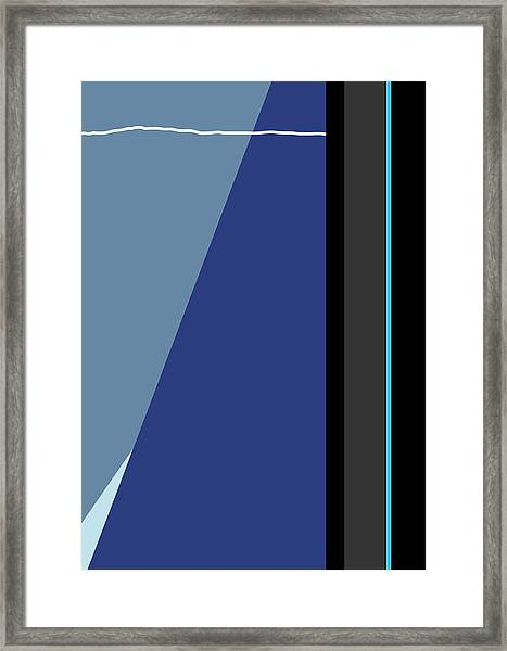 Symphony In Blue - Movement 3 - 3 Framed Print