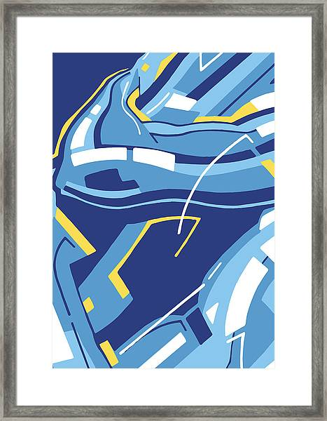 Symphony In Blue - Movement 4 - 3 Framed Print