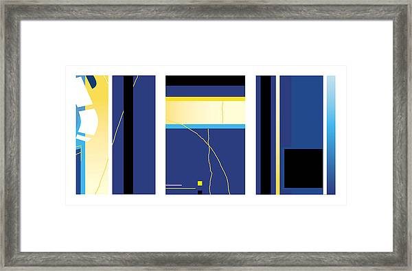 Symphony In Blue - Triptych2 Framed Print