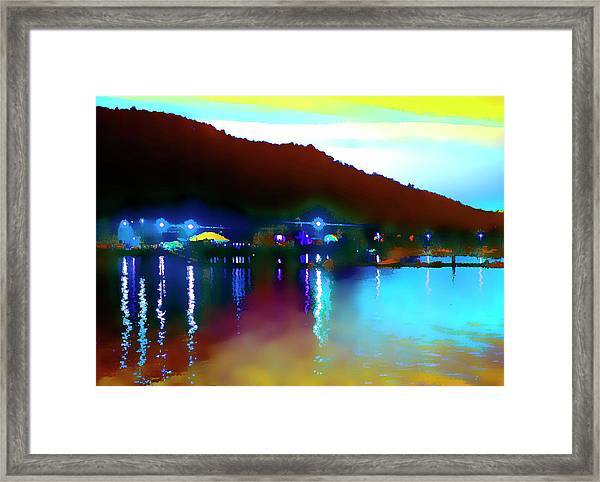 Symphony River Framed Print