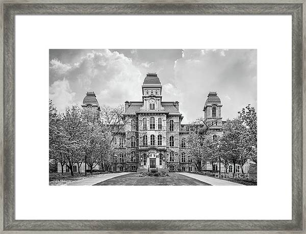 Syracuse University Hall Of Languages Framed Print