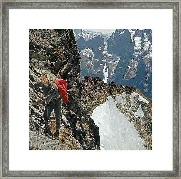 T-04403 Walt Buck Sellers On First Ascent Of Mt. Torment Framed Print