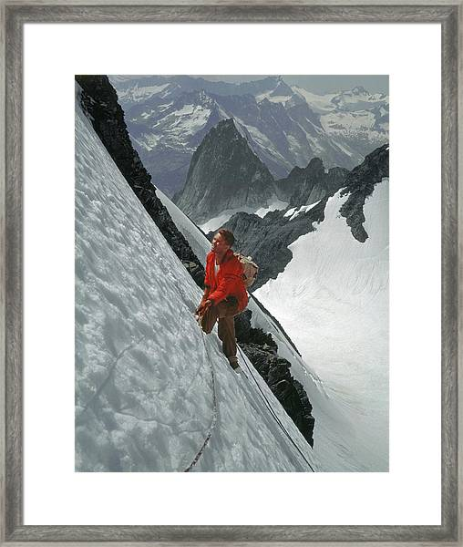 T-202707 Eric Bjornstad On Howser Peak Framed Print