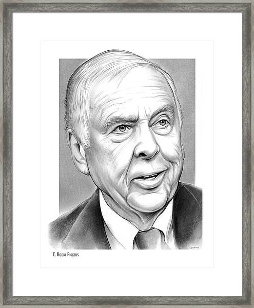 T Boone Pickens Framed Print