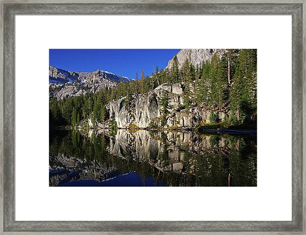 T J Lake Reflections Framed Print