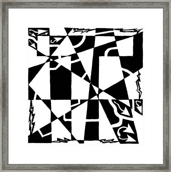 T Maze Framed Print by Yonatan Frimer Maze Artist