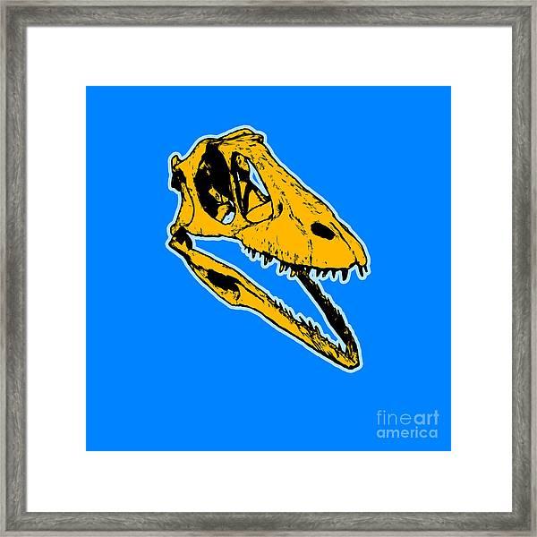 T-rex Graphic Framed Print
