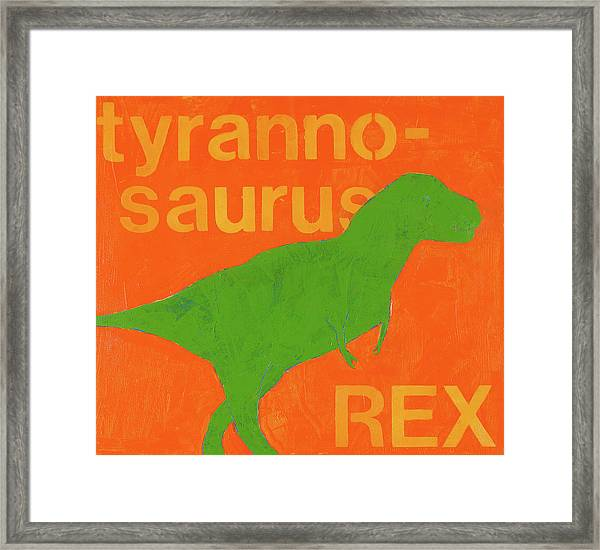 T Rex Framed Print by Laurie Breen