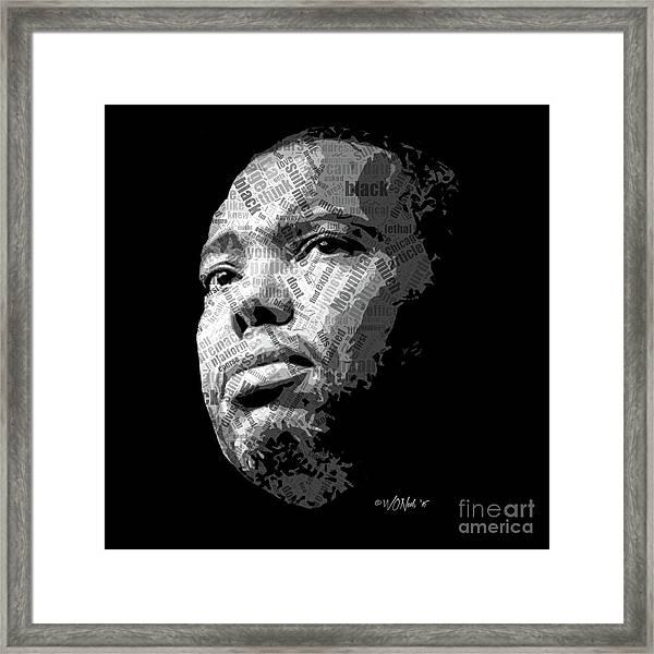 Ta-nehisi Coates Framed Print