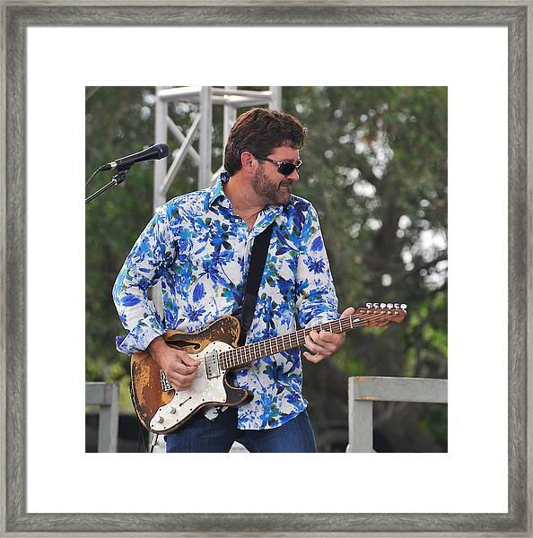 Tab Benoit And 1972 Fender Telecaster Framed Print