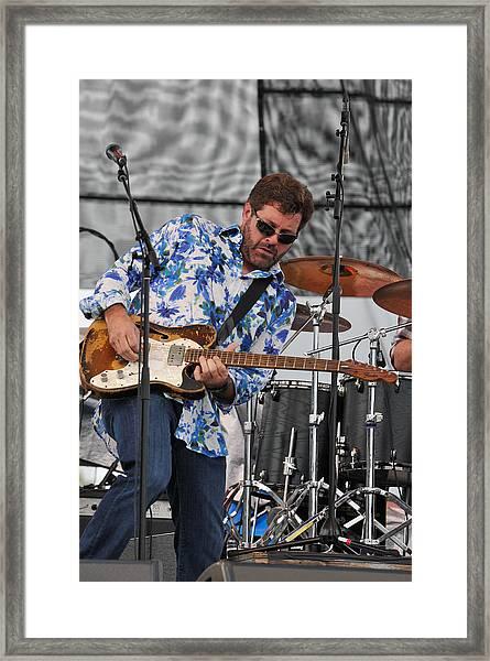 Tab Benoit Plays His 1972 Fender Telecaster Thinline Guitar Framed Print