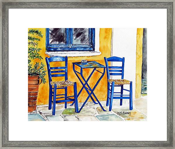 Table For Two Framed Print