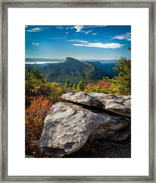 Table Rock Fall Morning Framed Print