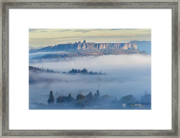 Table Rock Morning Framed Print