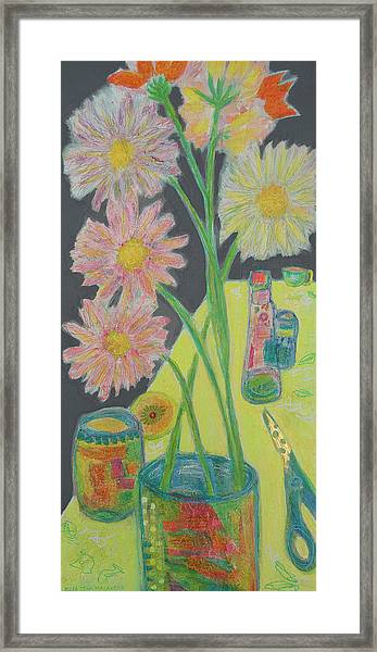 Table Scape Framed Print