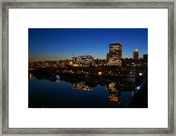 Tacoma Reflections Framed Print