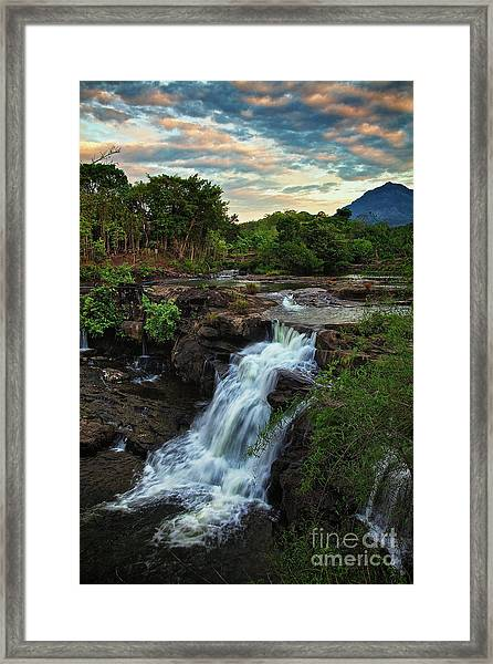 Tad Lo Waterfall, Bolaven Plateau, Champasak Province, Laos Framed Print